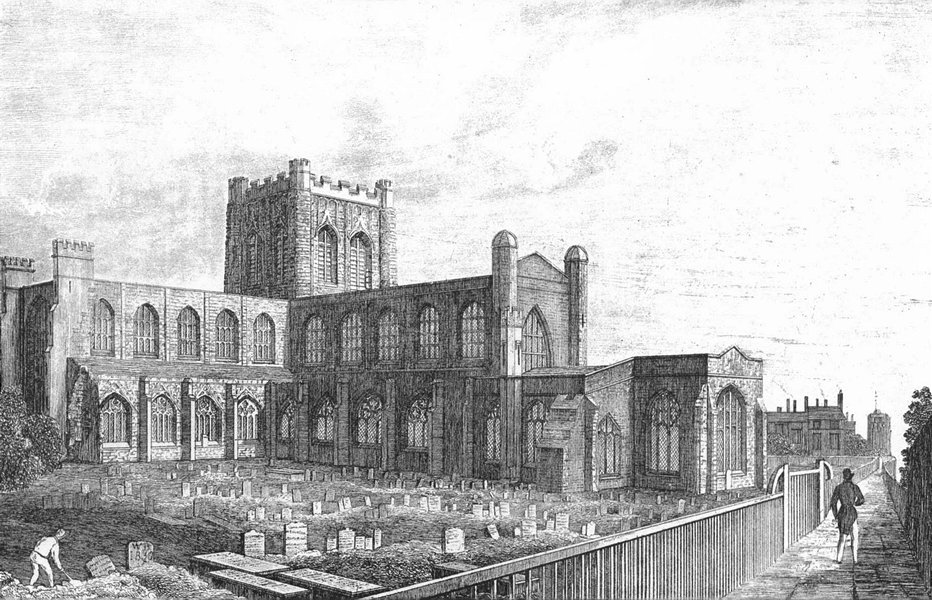 Associate Product CHESHIRE. Chester Cathedral. Chatherall 1850 old antique vintage print picture