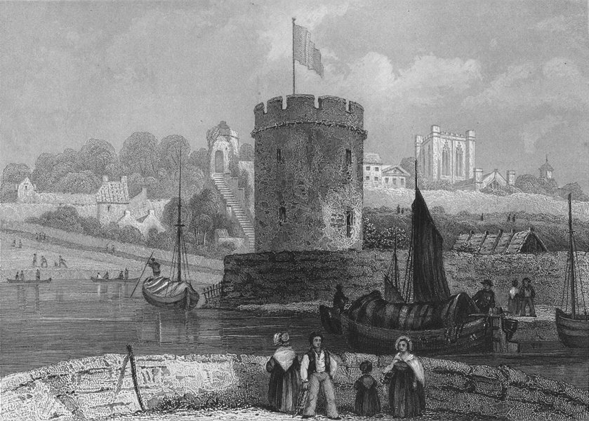 Associate Product CHESHIRE. Chester Cathedral water tower 1836 old antique vintage print picture
