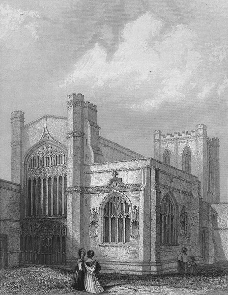 Associate Product CHESHIRE. Chester Cathedral SW view 1836 old antique vintage print picture