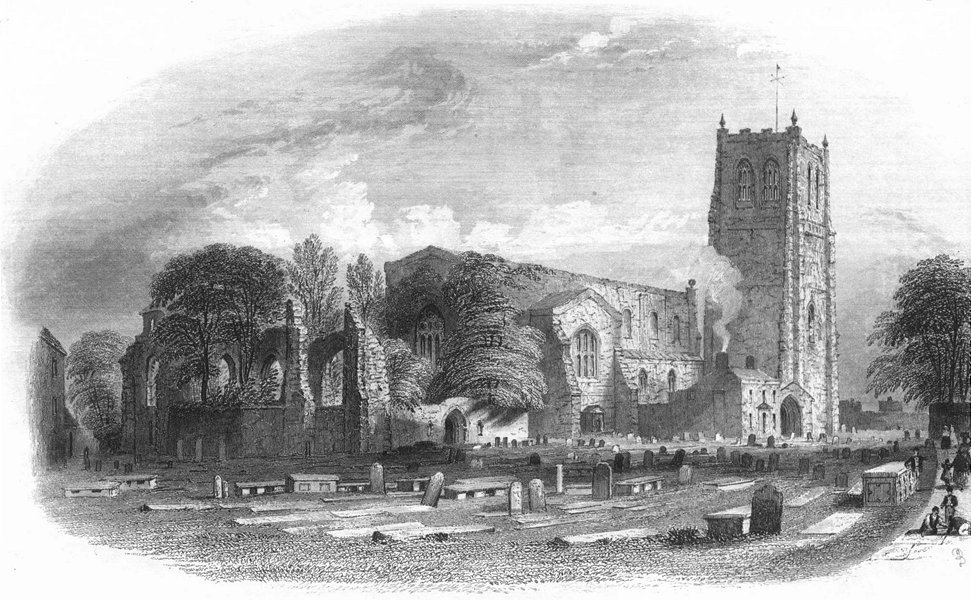 Associate Product CHESTER. St John's Church & Ruins. Pritchard 1850 old antique print picture