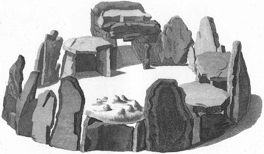 Associate Product JERSEY. Druids Temple. Channel Isles. Druid remains 1795 old antique print