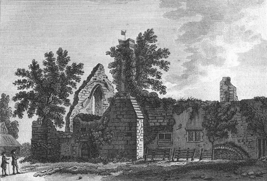 BUCKS. Burnham Abbey. Grose. 18C 1795 old antique vintage print picture