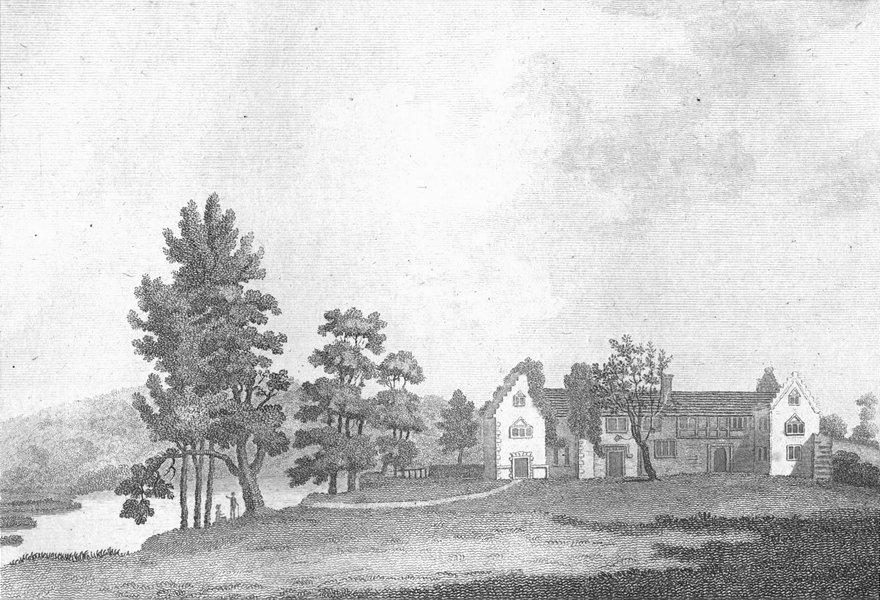 Associate Product BUCKS. Medmenham Abbey Henley, Thames. Grose. 18C 1795 old antique print