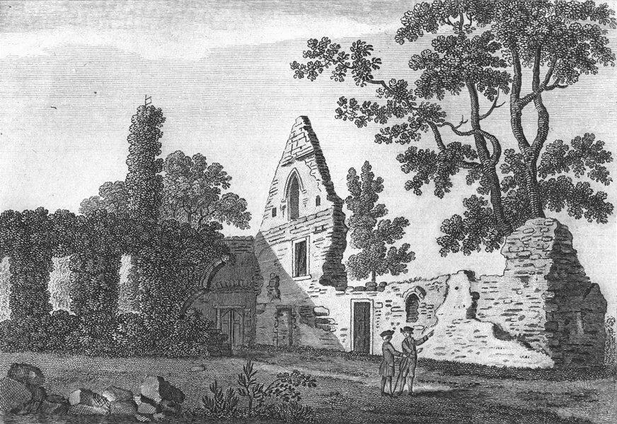 Associate Product BUCKS. Burnham Abbey. Grose. 18C 1795 old antique vintage print picture