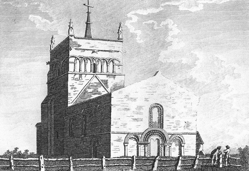 BUCKS. Stewkley Church. Grose. 18C 1795 old antique vintage print picture