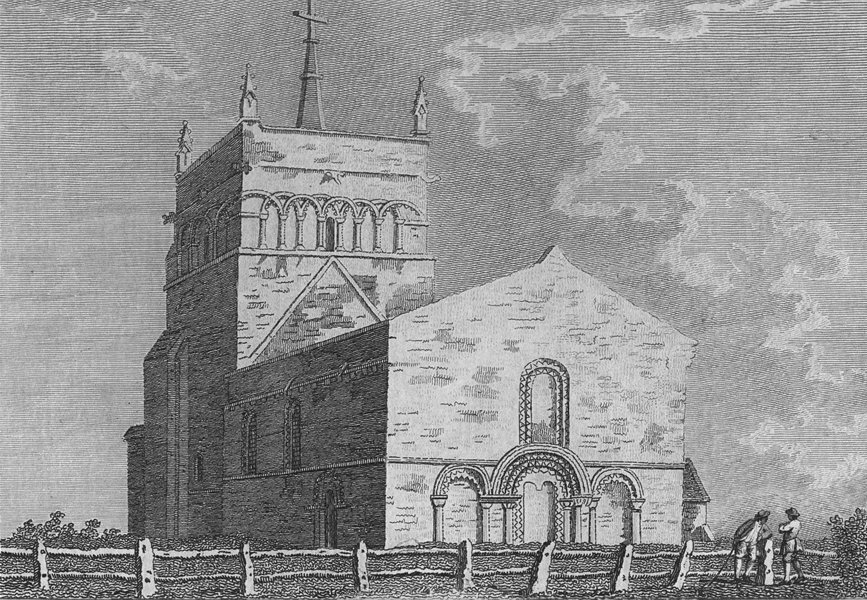 Associate Product BUCKS. Stewkley Church. Grose. Abbeys 1783 old antique vintage print picture