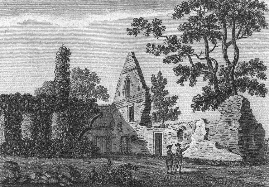 Associate Product BUCKS. Burnham Abbey. Grose. Abbeys 1783 old antique vintage print picture