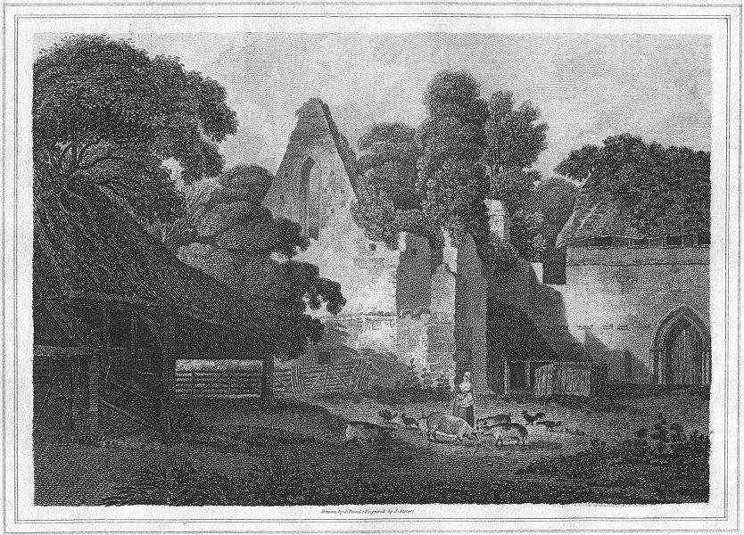Associate Product BUCKS. Burnham Abbey. Greig 1819 old antique vintage print picture