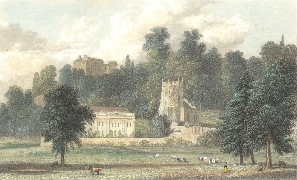 Associate Product SOMT. Widcombe Church, Bath. Westall c1833 old antique vintage print picture