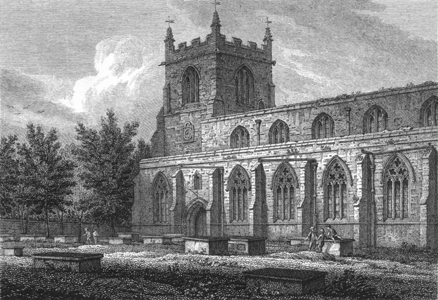 Associate Product BANGOR. South Cathedral. Wales Caernarfonshire.  1817 old antique print