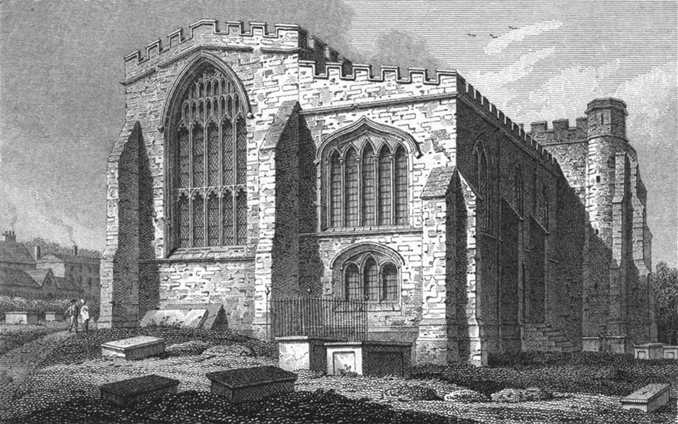 Associate Product WALES. Bangor Cathedral, Rev John Warren, Dean of 1817 old antique print