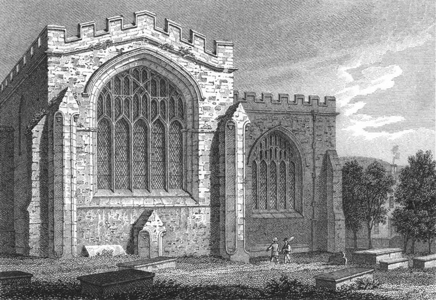 Associate Product BANGOR. Transept, Cathedral. Wales Caernarfonshire.  1817 old antique print