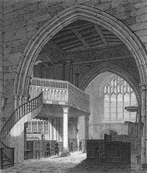 Associate Product BANGOR. Transept, Cathedral; Henry Majendie Bishop of 1817 old antique print