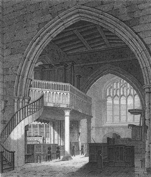 Associate Product BANGOR. Transept, Cathedral; Henry Majendie Bishop of 1814 old antique print