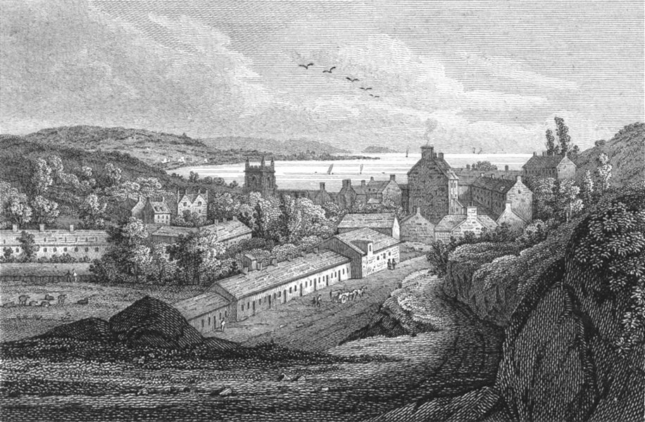 Associate Product WALES. Bangor. Wales Caernarfonshire. Storer 1814 old antique print picture