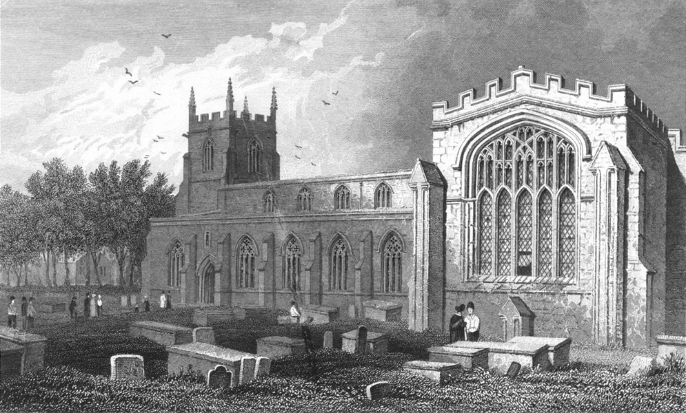 Associate Product WALES. Bangor Cathedral, Caernarfonshire. Gastineau 1831 old antique print