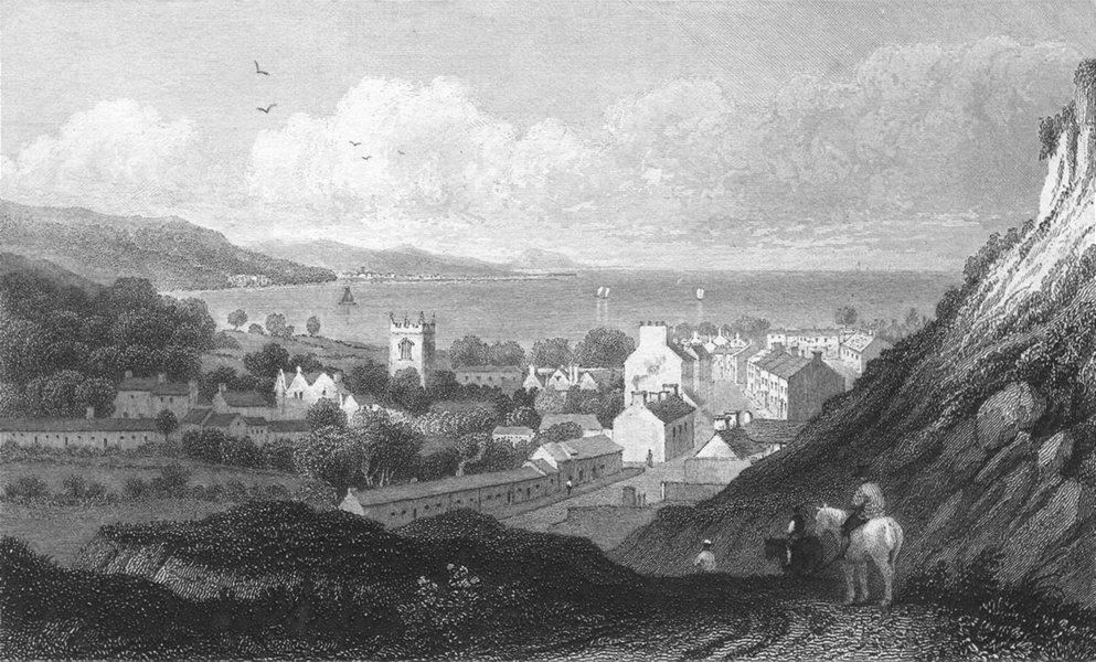 Associate Product WALES. Bangor, Caernarfonshire. Gastineau 1831 old antique print picture