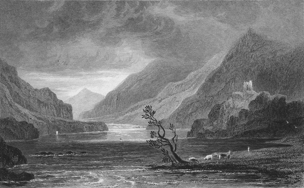 Associate Product WALES. Llanberis lake, Caernarfonshire. Gastineau 1831 old antique print