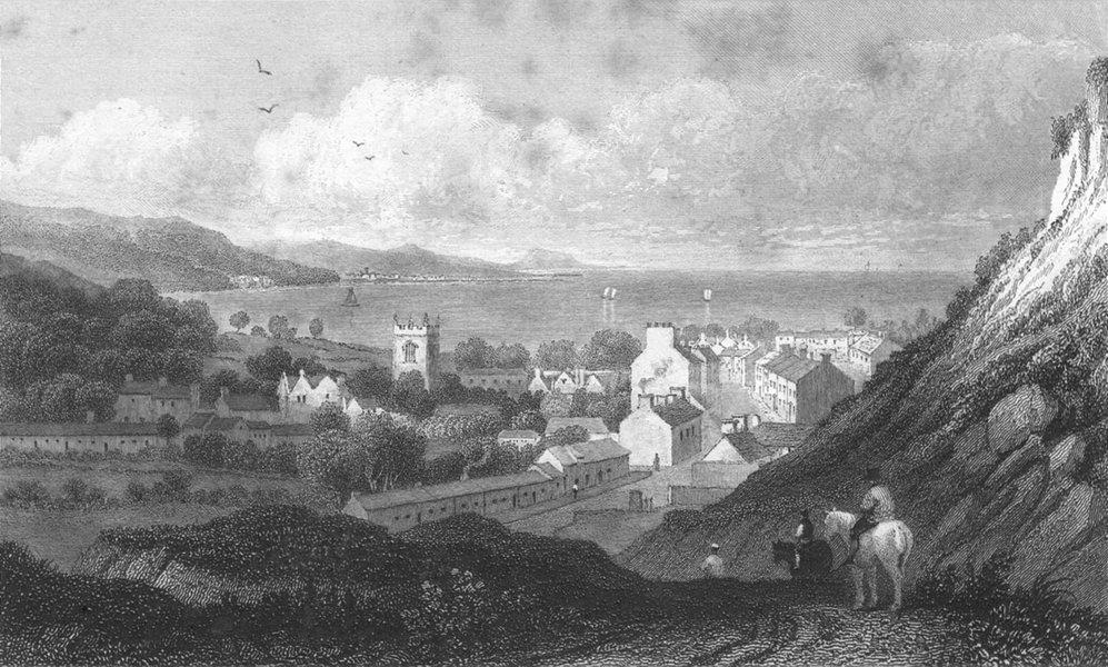 Associate Product WALES. Bangor. Wales Caernarfonshire. Gastineau c1831 old antique print