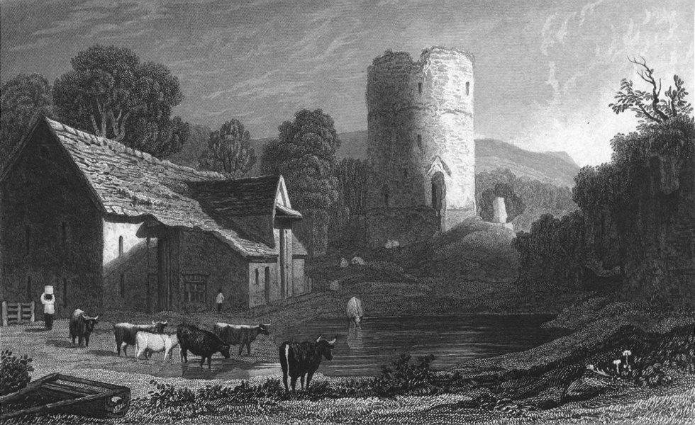 WALES. Tretower, Brecknockshire. Brecon. Gastineau 1831 old antique print