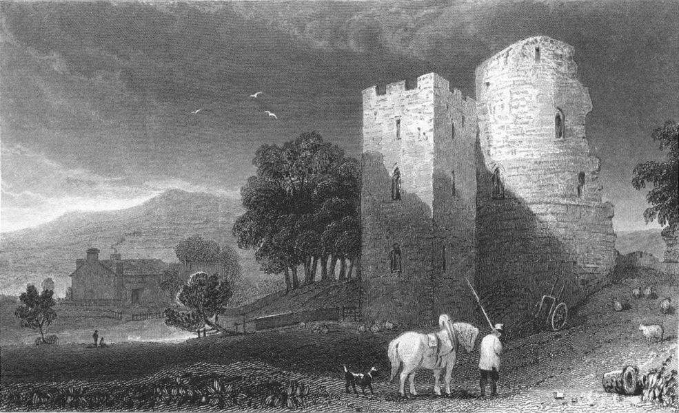 Associate Product WALES. Crickhowell Castle, Brecknockshire 1831 old antique print picture