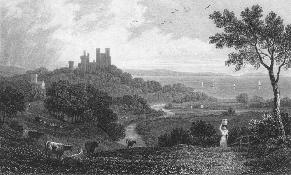 Associate Product WALES. Penrhyn Castle, Caernarfonshire. Gastineau 1831 old antique print