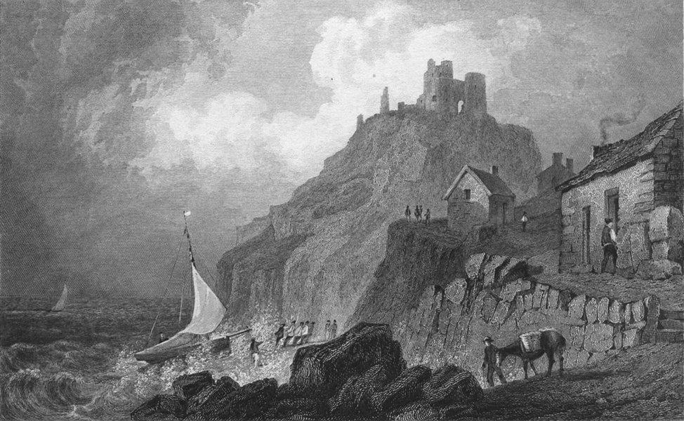 Associate Product WALES. Criccieth Castle, Caernarfonshire. Gastineau 1831 old antique print