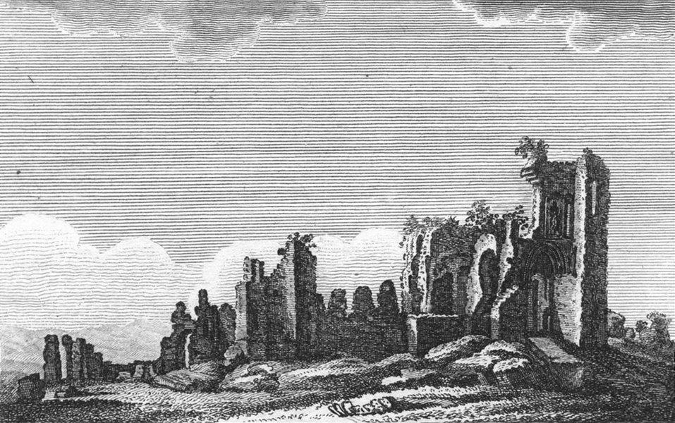 Associate Product WALES. Denbigh Castle. Lackington 1804 old antique vintage print picture