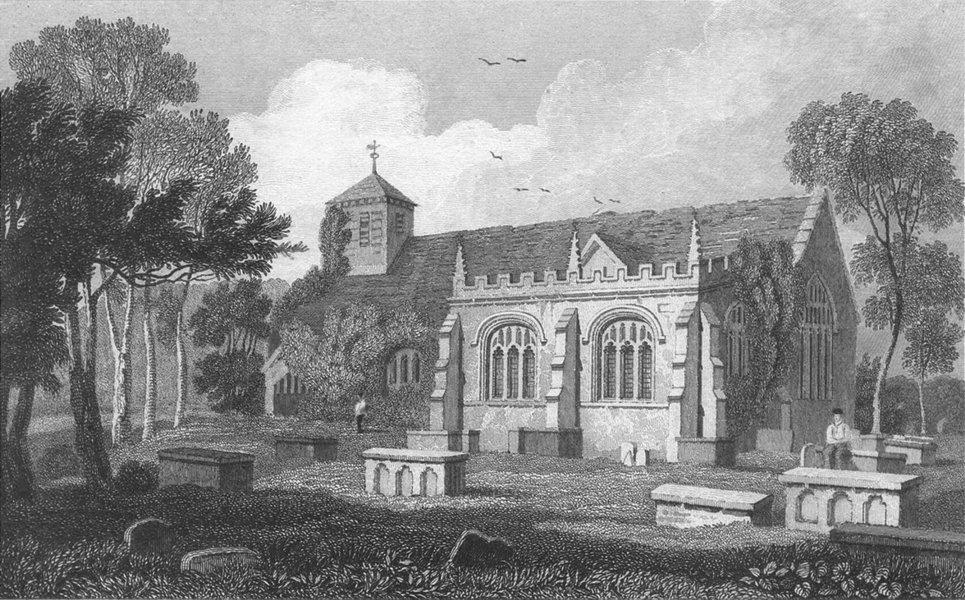 Associate Product LLANRWST. Church, Denbighshire. Denbigh. Gastineau c1831 old antique print