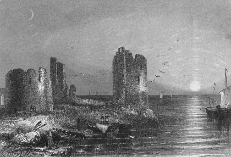 Associate Product WALES. Remains Flint Castle(1840) 1846 old antique vintage print picture