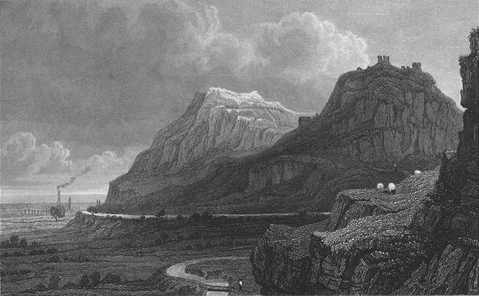 WALES. Remains Dyserth Castle, Flintshire. Gastineau 1831 old antique print