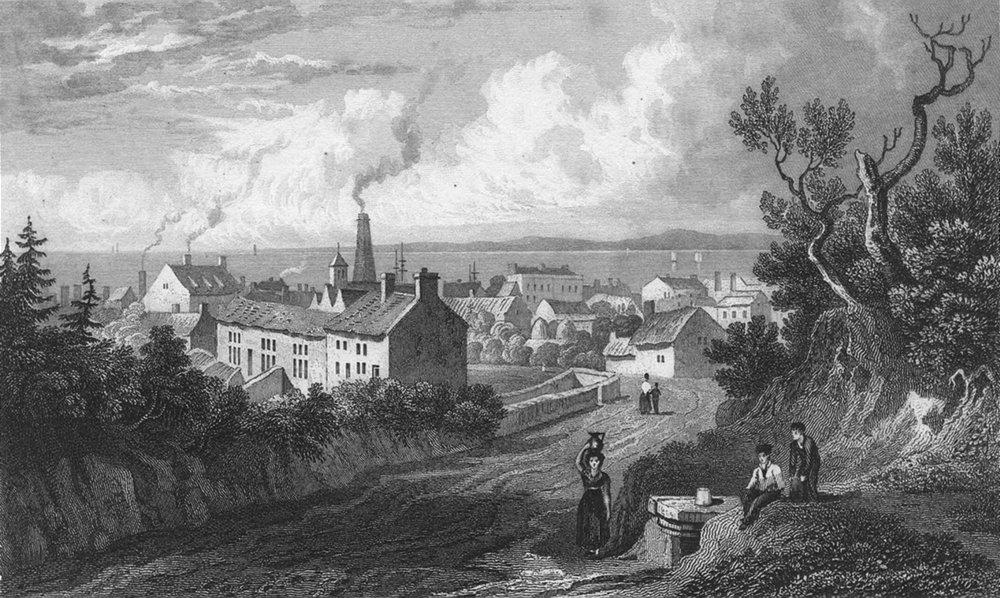 WALES. Flint. Gastineau 1831 old antique vintage print picture