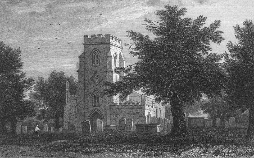 Associate Product WALES. Overton Church, Flintshire. Gastineau 1831 old antique print picture