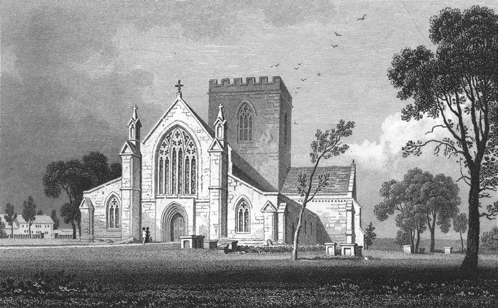 Associate Product WALES. St Asaph Cathedral, Flintshire. Gastineau 1831 old antique print