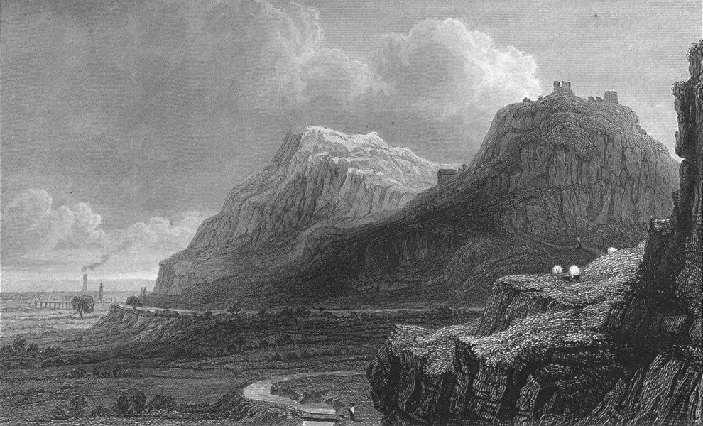 Associate Product WALES. Remains Dyserth Castle, Flintshire. Gastineau 1850 old antique print