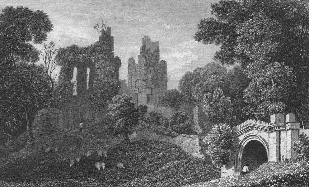 Associate Product WALES. Hawarden Castle, Flintshire. Gastineau 1831 old antique print picture