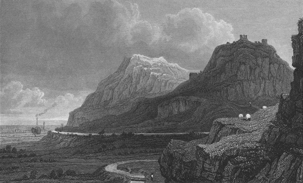 Associate Product WALES. Remains Dyserth Castle, Flintshire. Gastineau 1831 old antique print