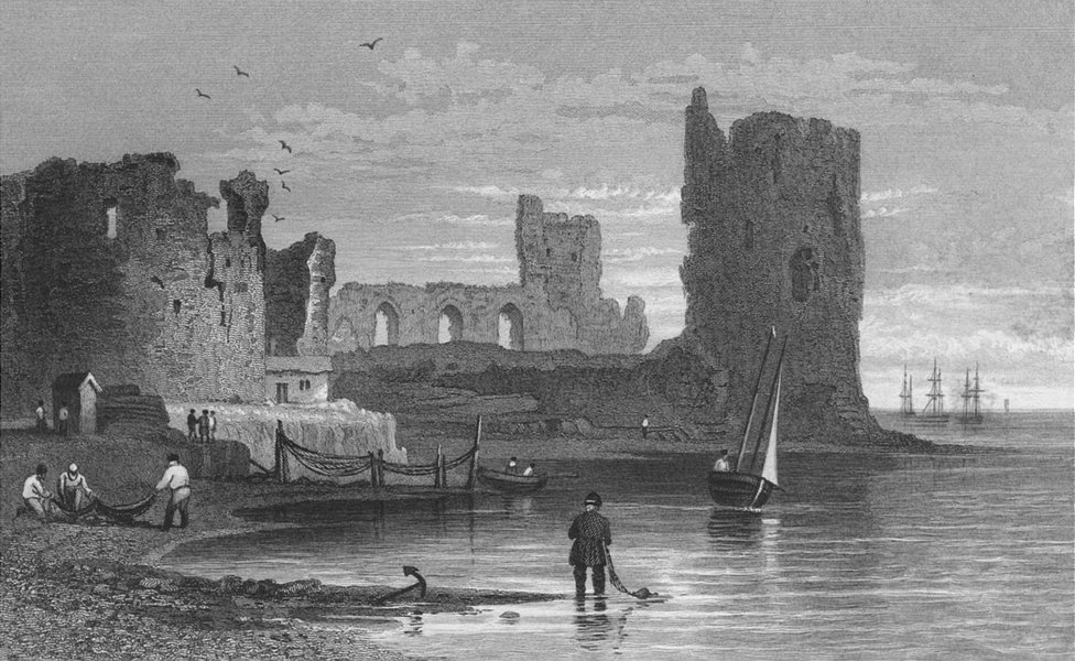 Associate Product WALES. Flint Castle. Gastineau 1831 old antique vintage print picture