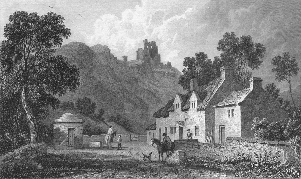 Associate Product WALES. Caergwrle, Flintshire. Gastineau 1831 old antique vintage print picture