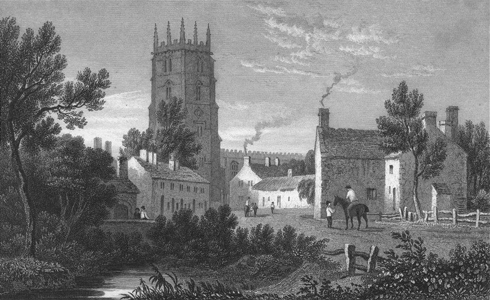Associate Product WALES. Northop, Flintshire. Gastineau 1831 old antique vintage print picture