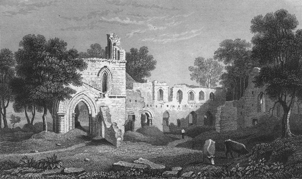 Associate Product WALES. Basingwerk abbey, Flintshire. Gastineau 1831 old antique print picture