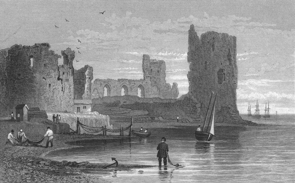 WALES. Flint Castle. Gastineau 1831 old antique vintage print picture