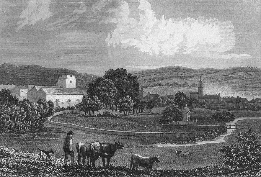 Associate Product COWBRIDGE. Attractive view. Glamorganshire.Wales. DUGDALE c1840 old print