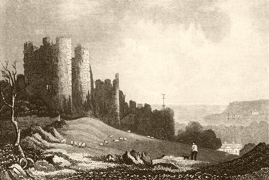 Associate Product PENRICE CASTLE. Attractive view. Glamorganshire. Wales. DUGDALE 1835 old print