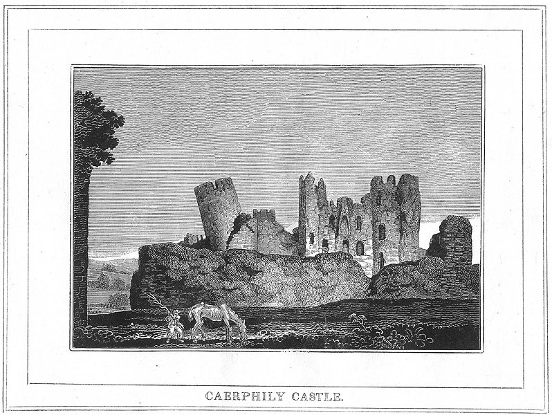 Associate Product WALES. Caerphily Castle. Glamorganshire 1830 old antique vintage print picture