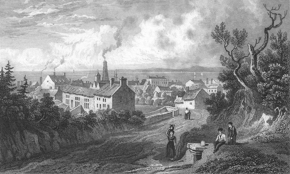 Associate Product WALES. Flint. Gastineau town 1831 old antique vintage print picture