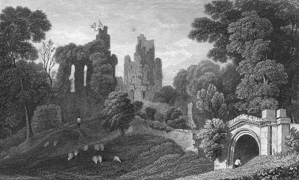 Associate Product HAWARDEN CASTLE. Flintshire. Flint. Gastineau Ruins c1831 old antique print