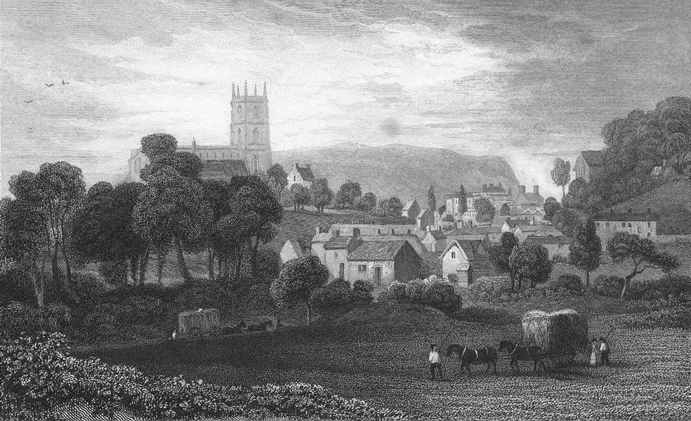 Associate Product WALES. Mold, Flintshire. Flint. Gastineau hay cart 1831 antique print