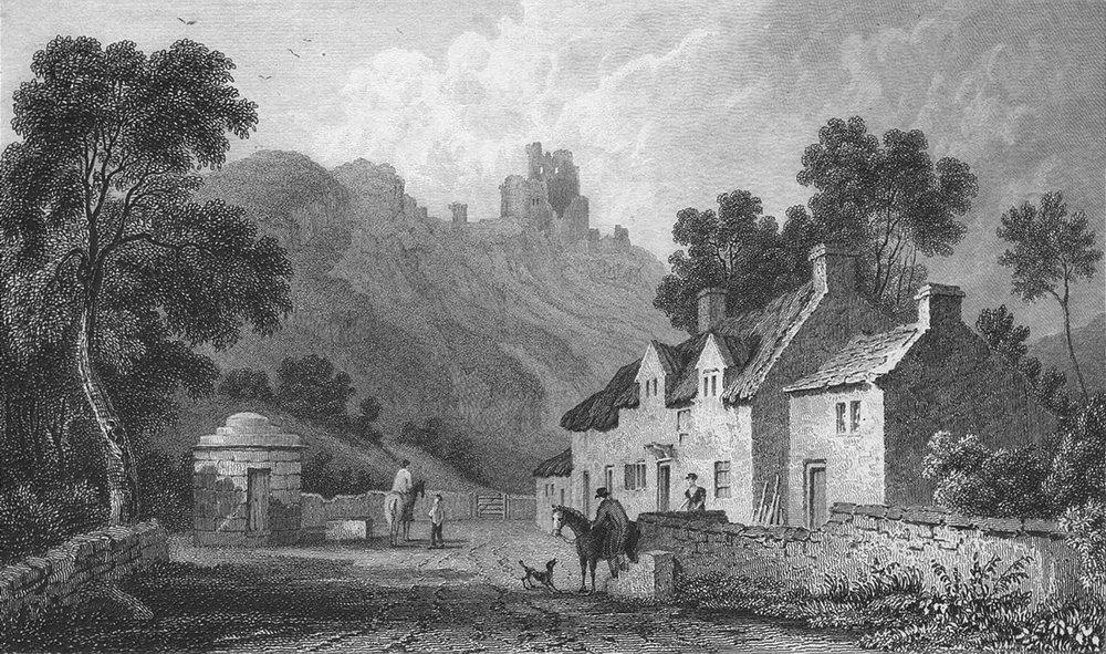 WALES. Caergwrle, Flintshire. Gastineau 1831 old antique vintage print picture