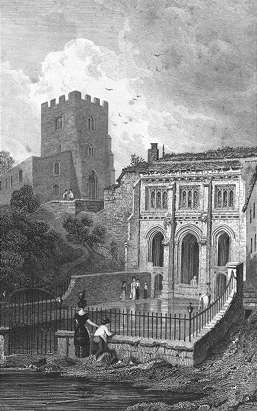 Associate Product WALES. St Winefride's well, Flintshire. Gastineau 1831 old antique print